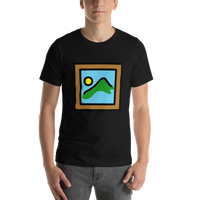 Emoji T-Shirt Store | Framed Picture emoji t-shirt in Black