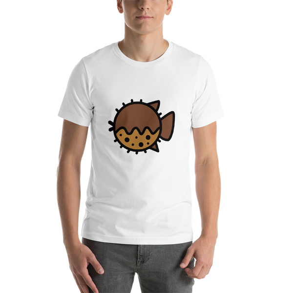 Emoji T-Shirt Store | Blowfish emoji t-shirt in White