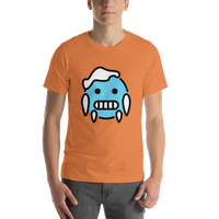 Emoji T-Shirt Store | Cold Face emoji t-shirt in Orange