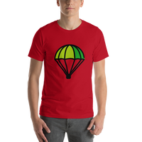 Emoji T-Shirt Store | Parachute emoji t-shirt in Red