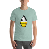 Emoji T-Shirt Store | Soft Ice Cream emoji t-shirt in Green