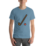 Emoji T-Shirt Store | Field Hockey emoji t-shirt in Blue