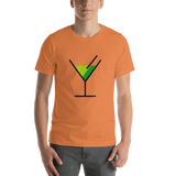 Emoji T-Shirt Store | Cocktail Glass emoji t-shirt in Orange