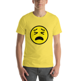 Emoji T-Shirt Store | Tired Face emoji t-shirt in Yellow