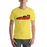 Emoji T-Shirt Store | Racing Car emoji t-shirt in Yellow