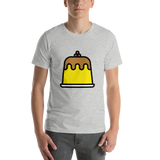 Emoji T-Shirt Store | Custard emoji t-shirt in Light gray