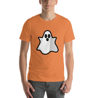 Emoji T-Shirt Store | Ghost emoji t-shirt in Orange