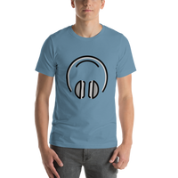 Emoji T-Shirt Store | Headphones emoji t-shirt in Blue