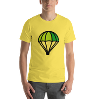 Emoji T-Shirt Store | Parachute emoji t-shirt in Yellow