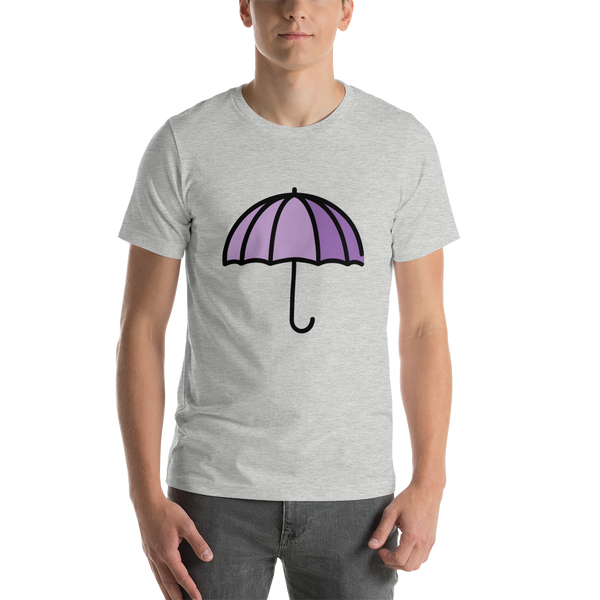 Emoji T-Shirt Store | Umbrella emoji t-shirt in Light gray