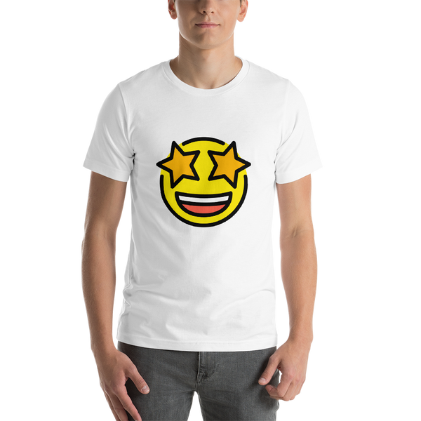 Emoji T-Shirt Store | Star-Struck emoji t-shirt in White