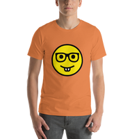 Emoji T-Shirt Store | Nerd Face emoji t-shirt in Orange