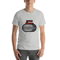 Emoji T-Shirt Store | Curling Stone emoji t-shirt in Light gray