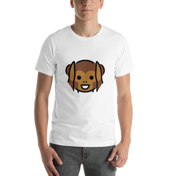 Emoji T-Shirt Store | Hear-No-Evil Monkey emoji t-shirt in White