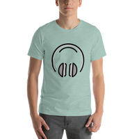 Emoji T-Shirt Store | Headphones emoji t-shirt in Green