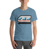 Emoji T-Shirt Store | Light Rail emoji t-shirt in Blue