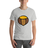 Emoji T-Shirt Store | Chestnut emoji t-shirt in Light gray