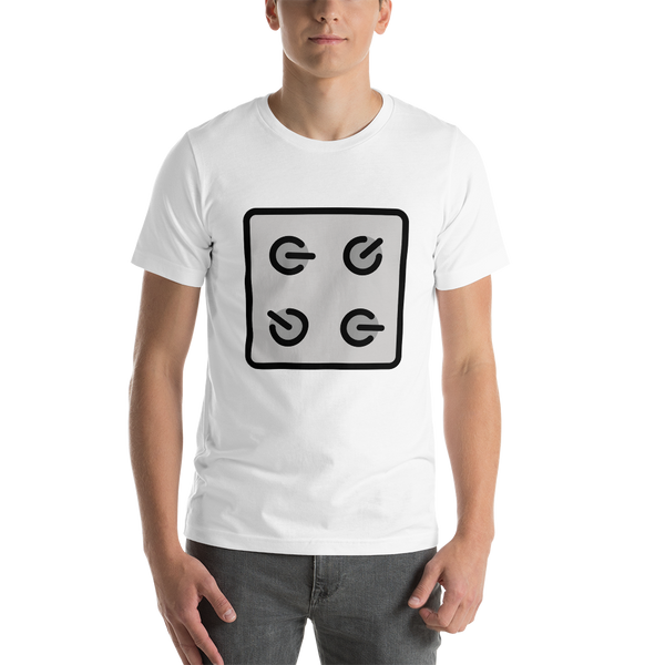 Emoji T-Shirt Store | Control Knobs emoji t-shirt in White