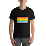 Emoji T-Shirt Store | Rainbow Flag emoji t-shirt in Black