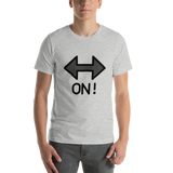 Emoji T-Shirt Store | On! Arrow emoji t-shirt in Light gray