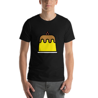 Emoji T-Shirt Store | Custard emoji t-shirt in Black
