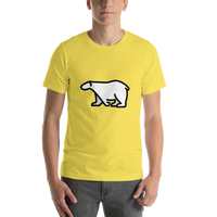 Emoji T-Shirt Store | Polar Bear emoji t-shirt in Yellow