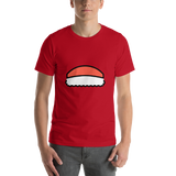Emoji T-Shirt Store | Sushi emoji t-shirt in Red
