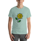 Emoji T-Shirt Store | Sunflower emoji t-shirt in Green