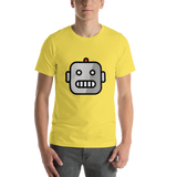Emoji T-Shirt Store | Robot emoji t-shirt in Yellow