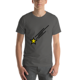 Emoji T-Shirt Store | Shooting Star emoji t-shirt in Dark gray