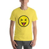Emoji T-Shirt Store | Squinting Face With Tongue emoji t-shirt in Yellow
