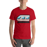 Emoji T-Shirt Store | Light Rail emoji t-shirt in Red
