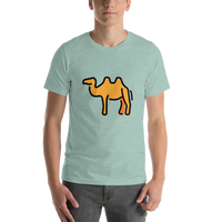 Emoji T-Shirt Store | Two-Hump Camel emoji t-shirt in Green