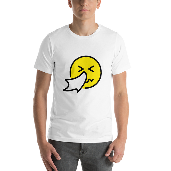 Emoji T-Shirt Store | Sneezing Face emoji t-shirt in White