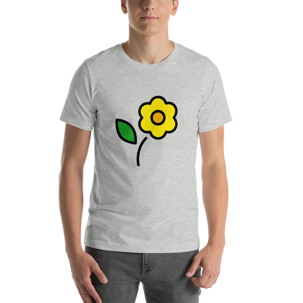 Emoji T-Shirt Store | Blossom emoji t-shirt in Light gray