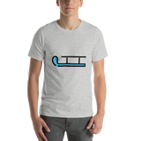 Emoji T-Shirt Store | Sled emoji t-shirt in Light gray