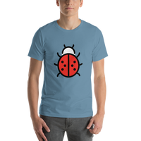 Emoji T-Shirt Store | Lady Beetle emoji t-shirt in Blue