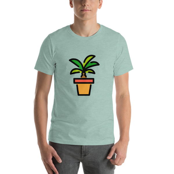 Emoji T-Shirt Store | Potted Plant emoji t-shirt in Green