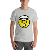 Emoji T-Shirt Store | Exploding Head emoji t-shirt in Light gray