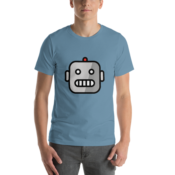 Emoji T-Shirt Store | Robot emoji t-shirt in Blue