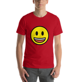 Emoji T-Shirt Store | Grinning Face With Big Eyes emoji t-shirt in Red
