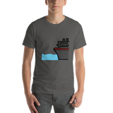 Emoji T-Shirt Store | Ferry emoji t-shirt in Dark gray