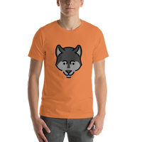 Emoji T-Shirt Store | Wolf emoji t-shirt in Orange