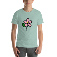 Emoji T-Shirt Store | Cherry Blossom emoji t-shirt in Green