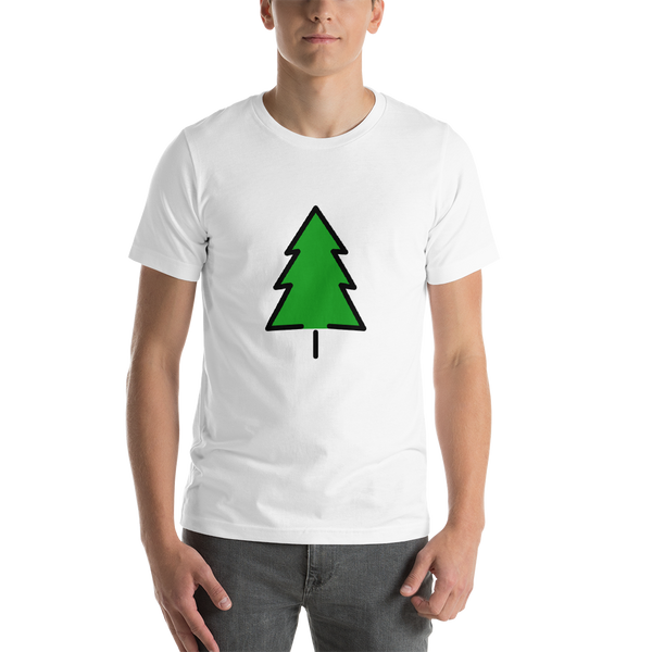 Emoji T-Shirt Store | Evergreen Tree emoji t-shirt in White