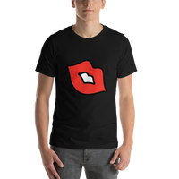 Emoji T-Shirt Store | Kiss Mark emoji t-shirt in Black