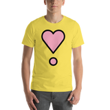 Emoji T-Shirt Store | Heart Exclamation emoji t-shirt in Yellow
