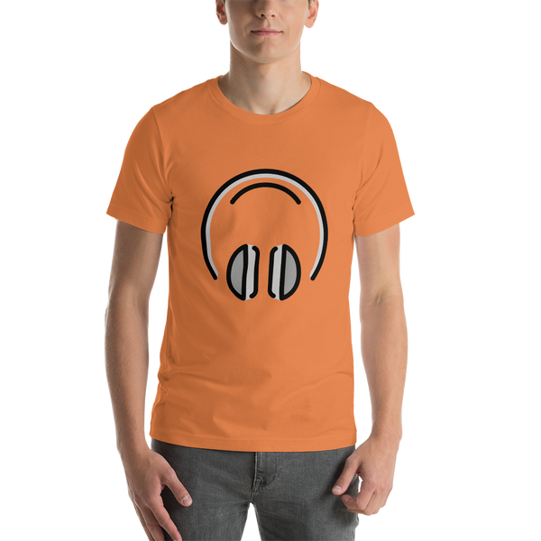 Emoji T-Shirt Store | Headphones emoji t-shirt in Orange