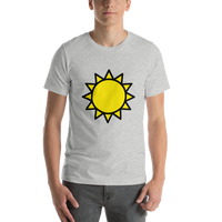 Emoji T-Shirt Store | Sun emoji t-shirt in Light gray