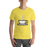 Emoji T-Shirt Store | Hot Beverage emoji t-shirt in Yellow